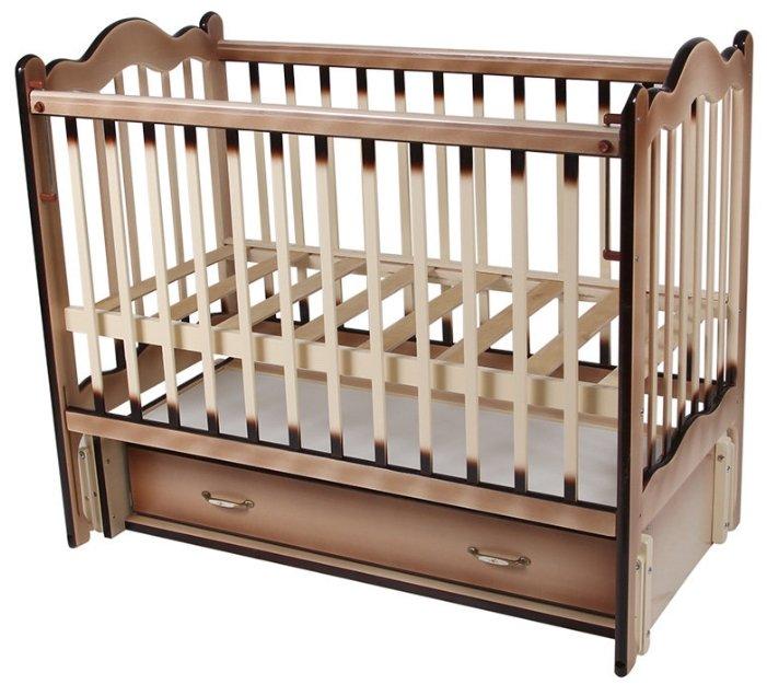 Кроватка Счастливый малыш Дюймовочка 008 (продольный маятник)