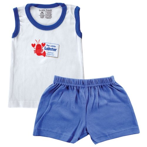 нагрудники luvable friends комплект нагрудники Комплект одежды Luvable Friends размер Medium, голубой
