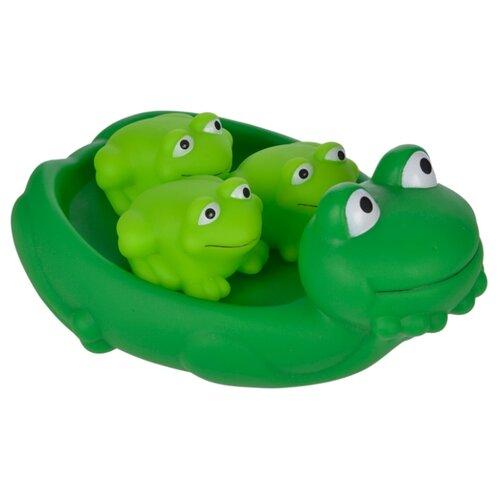 Купить Набор для ванной Жирафики Мама лягушка и лягушата (68857) зеленый, Игрушки для ванной