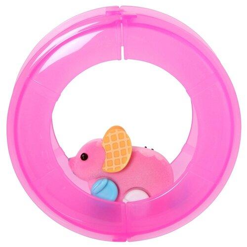 Интерактивная игрушка робот Moose Little Live Pets Мышка в колесе розовый