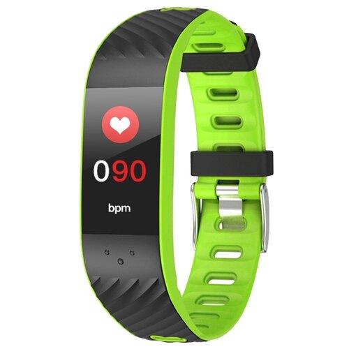 Браслет Qumann QSB 12 черный/зеленыйУмные часы и браслеты<br>