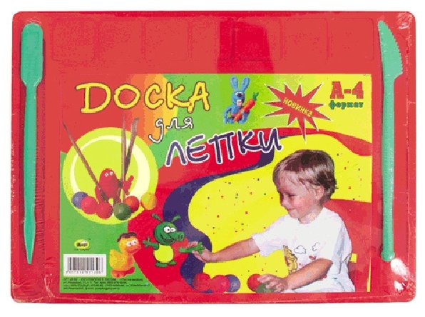 Пчёлка Доска для работы с пластилином А4, цветная (221467)