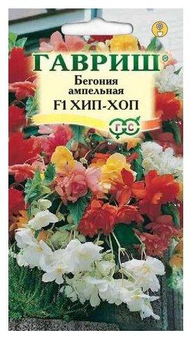 Семена Гавриш Бегония ампельная Хип-Хоп F1, гранулы, пробирка, смесь 4 шт.