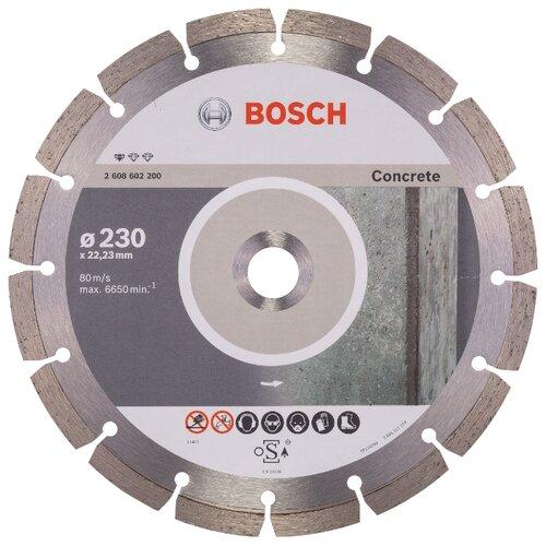 Фото - Диск алмазный отрезной BOSCH Standard for Concrete 2608602200, 230 мм 1 шт. диск алмазный отрезной bosch standard for universal turbo 2608602395 150 мм 1 шт