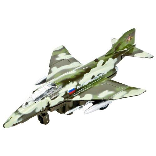 Самолет ТЕХНОПАРК Военный (SL324WB) 13 см зеленый камуфляжМашинки и техника<br>