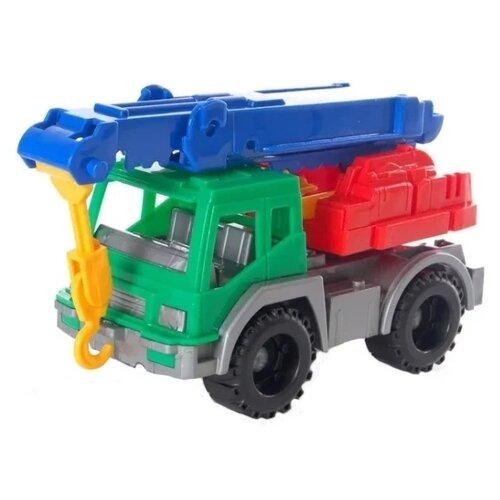Купить Автокран Нордпласт Кама (164) 11 см синий/красный/зеленый, Машинки и техника
