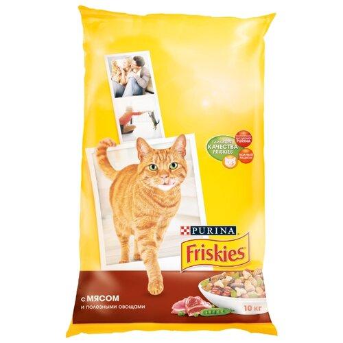 Корм для кошек Friskies (10 кг) Для взрослых кошек с мясом и полезными овощамиКорма для кошек<br>