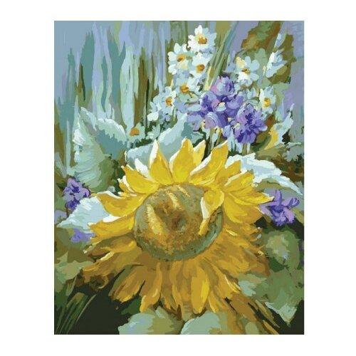 Купить Белоснежка Картина по номерам Подсолнух 30х40 см (782-AS), Картины по номерам и контурам