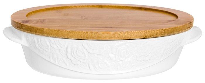 Горшок для запекания Elan gallery Белые розы 860035 (29х20х7.5 см)
