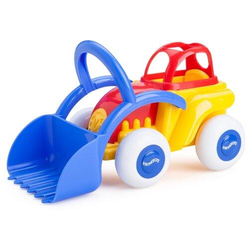 Купить Трактор Viking Toys Midi (1232/701232) 21 см красный/синий/желтый, Машинки и техника