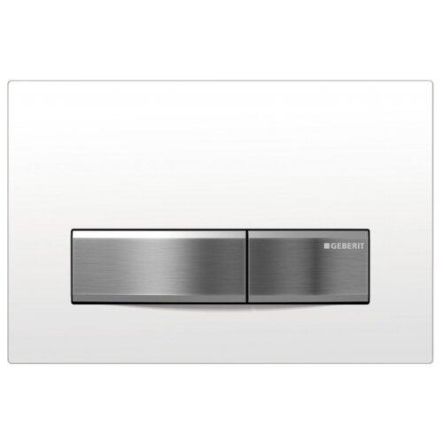 Кнопка смыва GEBERIT 115.788.11.5 Sigma50 белый/сталь кнопка смыва geberit 115 751 00 1 mambo нержавеющая сталь
