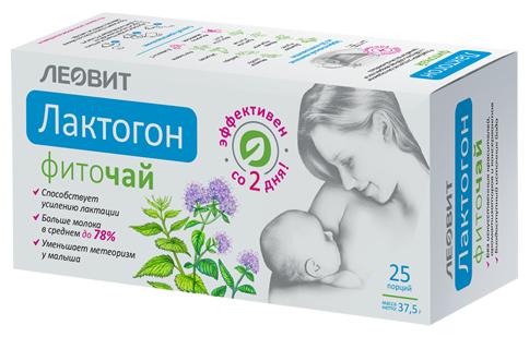 Чай ЛЕОВИТ Фиточай Лактогон Леовит в пакетиках 25 шт. (37.5 г)