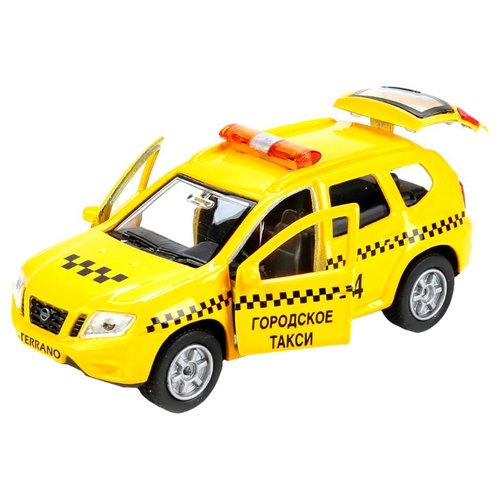 Купить Легковой автомобиль ТЕХНОПАРК Nissan Terrano Такси (SB-17-47-NT(T)-WB) 12 см желтый, Машинки и техника