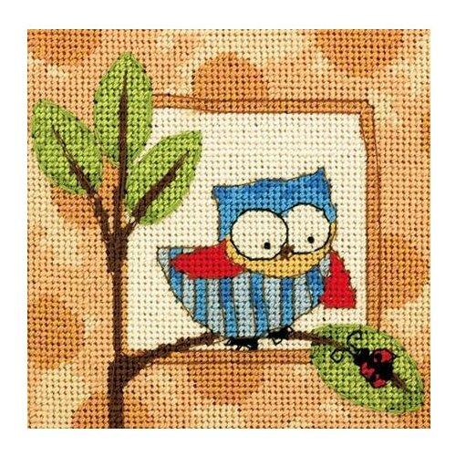 Купить Dimensions Набор для вышивания Гобелен Curious Owl (Любопытная сова) 12, 7 х 12, 7 см (71-07239), Наборы для вышивания