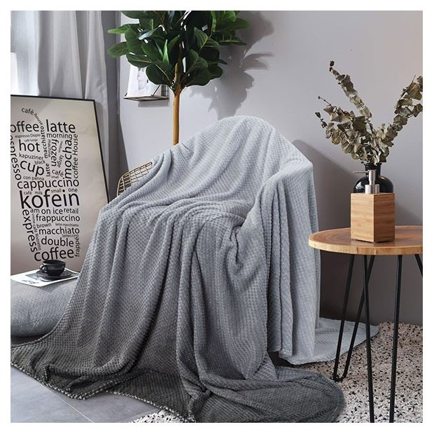 Покрывало Guten Morgen Серый, 150 х 200 см