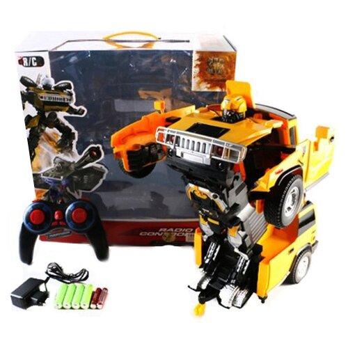 Купить Робот-трансформер Shantou Gepai Робот-машина W298-15 оранжево-черный, Роботы и трансформеры