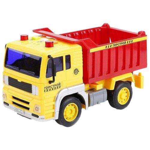 Купить Грузовик ТЕХНОПАРК Горстрой (WY510A) 1:20 17 см желтый/красный, Машинки и техника