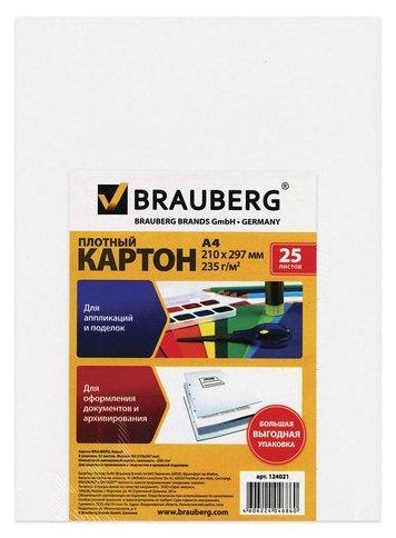 Картон белый BRAUBERG 25 листов 124021
