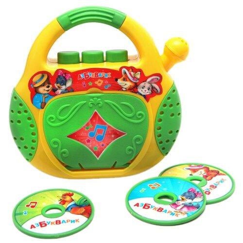 Интерактивная развивающая игрушка Азбукварик CD-плеер. Песенки-потешки желтый/зеленый интерактивная развивающая игрушка азбукварик мультиплеер песенки в шаинского зеленый