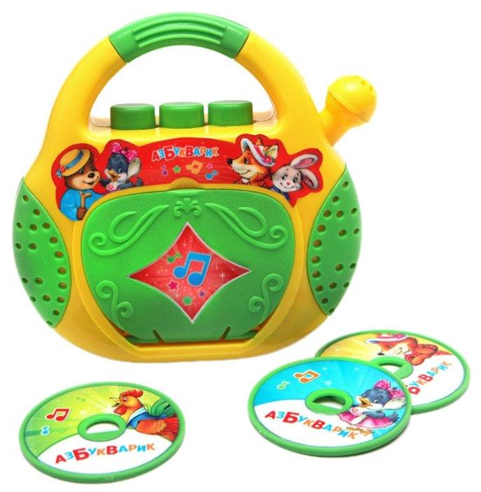 Интерактивная развивающая игрушка Азбукварик CD-плеер. Песенки-потешки