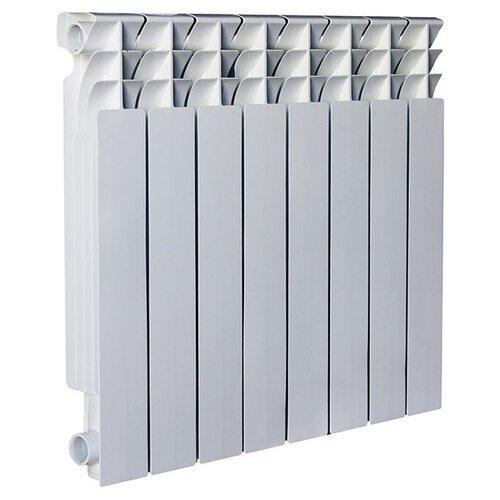 Радиатор секционный алюминий Oasis Al 500/80 x8 теплоотдача 1520 Вт, подключение боковое правое RAL 9016