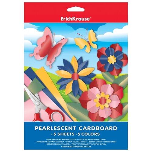 Купить Цветной картон ErichKrause, A4, 5 л., 5 цв., Цветная бумага и картон