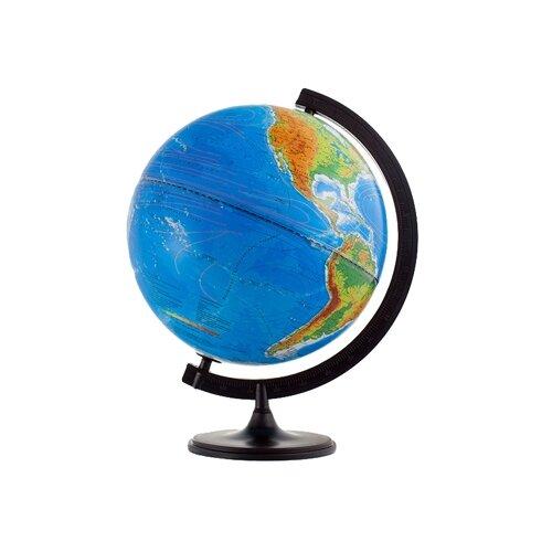 Фото - Глобус физико-политический Глобусный мир Двойная карта 320 мм (10095) черный глобус физический глобусный мир 250 мм 10160 бирюзовый