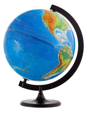 Глобус физико-политический Глобусный мир d=320мм, с подсветкой (10095)