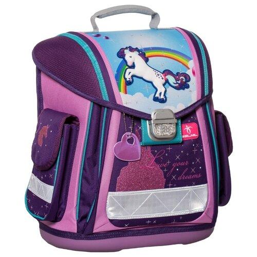 Belmil Ранец Sporty Unicorn (404-5/436), фиолетовый/голубой