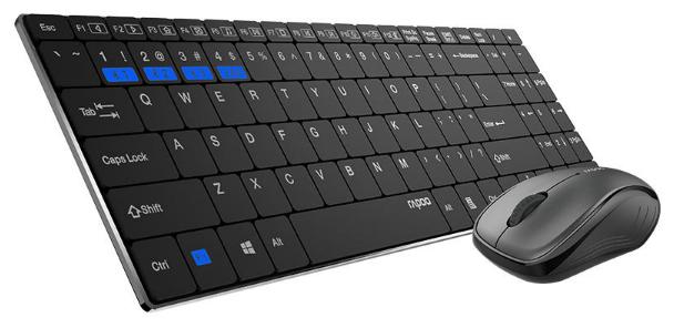 Rapoo Клавиатура и мышь Rapoo 9060M Black Bluetooth