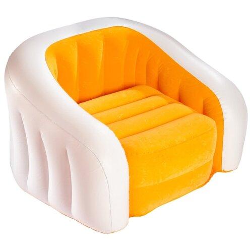 Надувное кресло Intex Cafe Club Chair (68571) салатовый/белый