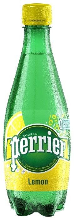 Минеральная вода Perrier газированная, со вкусом лимона, ПЭТ