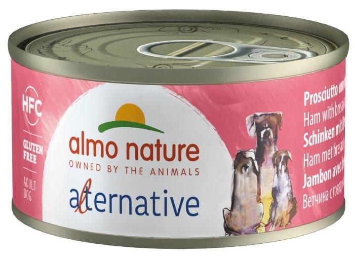 Корм для собак Almo Nature Alternative ветчина, говядина 70г