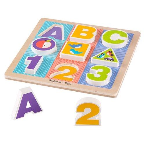 Купить Рамка-вкладыш Melissa & Doug Буквы и цифры (1899M), 9 дет., Пазлы