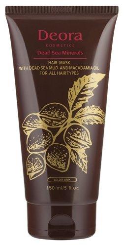Deora Cosmetics Маска грязевая для всех типов волос с маслом макадамии