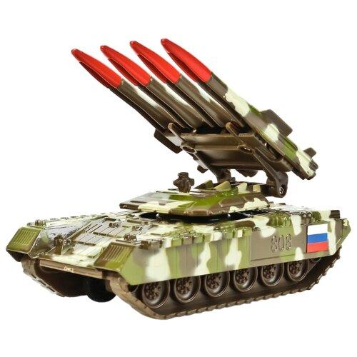 Купить Ракетная установка ТЕХНОПАРК SB-16-19-BUK-M-WB 12 см зеленый/коричневый/белый, Машинки и техника