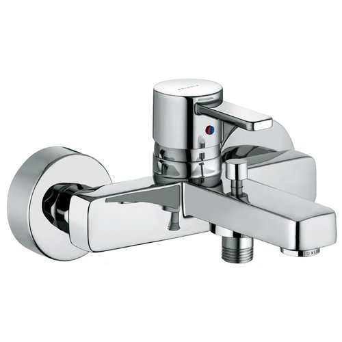 Смеситель для ванны с душем KLUDI Zenta 38670 0575 однорычажный хром смеситель для ванны с душем kludi zenta 35101 0538 двухрычажный с термостатом хром