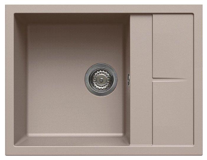 Врезная кухонная мойка elleci Unico 125 65х50см искусственный гранит
