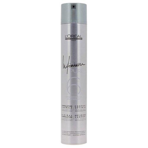 LOreal Professionnel Лак для волос Infinium pure Extra strong, экстрасильная фиксация, 500 млЛаки и спреи<br>