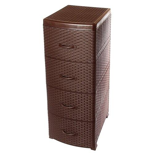 Комод Violet Ротанг 4 секции , размер: 39х47 см , цвет: коричневый