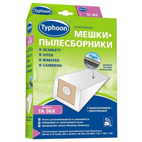 Тайфун Бумажные мешки-пылесборники TA 98X белый 5 шт.