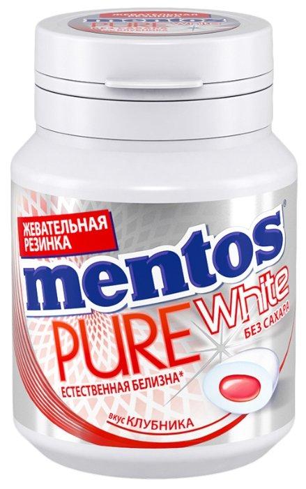 Жевательная резинка MENTOS Pure white Вкус Клубника 54 г