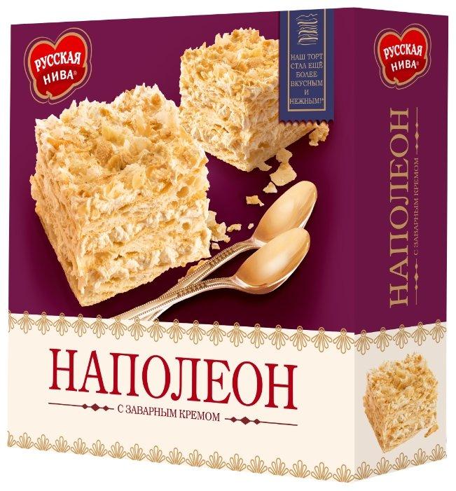 Торт Русская нива Наполеон с заварным кремом