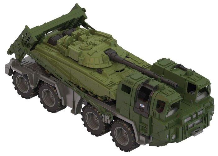 Набор техники Нордпласт Военный тягач Щит с танком (258) 56 см
