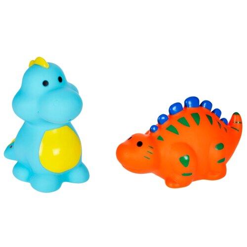 Купить Набор для ванной Жирафики Динозаврики (681274) голубой/оранжевый, Игрушки для ванной