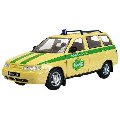 Легковой автомобиль Autogrand Lada 111 инкассация (2697) 1:36 бежевый/зеленый