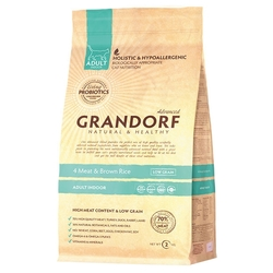 Корм для кошек Grandorf 4 Meat & Brown Rice INDOOR