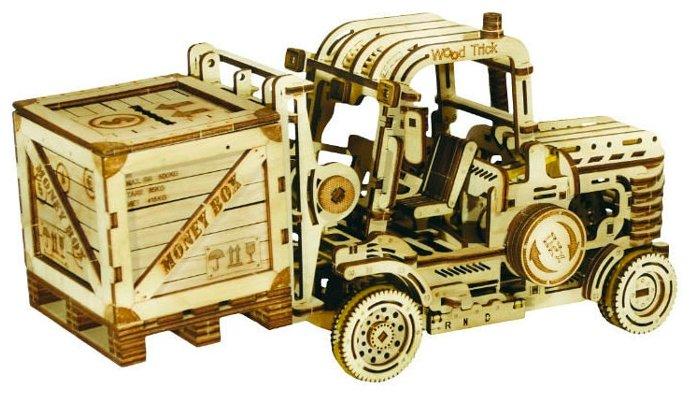 Сборная модель Wood Trick Вилочный погрузчик с контейнером-копилкой (1234-17)