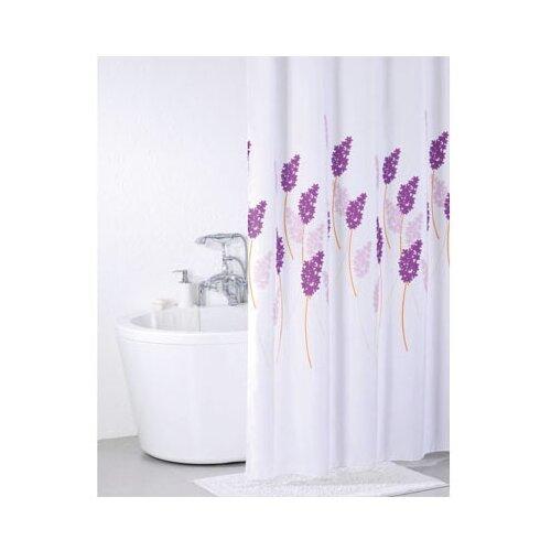 Штора для ванной IDDIS SCID120P 200x200 белый/фиолетовый