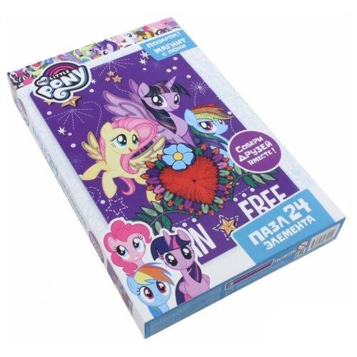 Купить Пазл Origami My Little Pony Флаттершай, Сумеречная Искорка и Радуга Дэш (03424), 24 дет., Пазлы